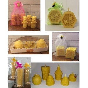 Bee Happy Beeswax Candles