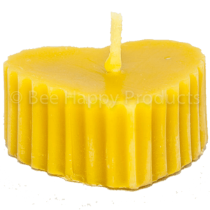 Beeswax Fluted Heart Candle