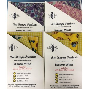 Beeswax Wraps - Set of 3 (Small/Med/Large)